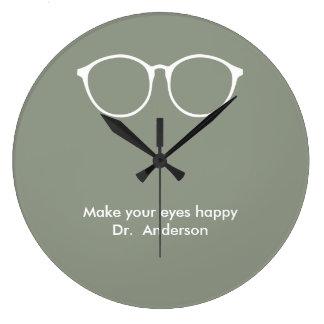 Ophthalmologist Optometrist Optician Eyeglasses Large Clock