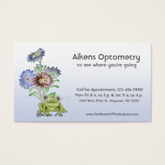 Ophthalmologist, Optometrist, Optician Frog Business Card