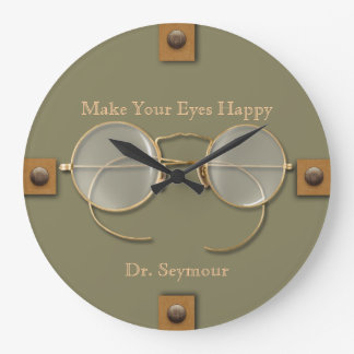 Ophthalmologist, Optometrist, Optician Spectacles Large Clock