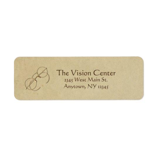 Ophthalmologist, Optometrist or Optician Practice Return Address Label