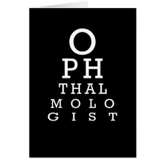 Ophthalmology Eye Chart Vision Test Card