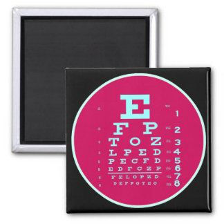 Ophthalmology Pop Art: Test Your Vision Eye Chart Magnet