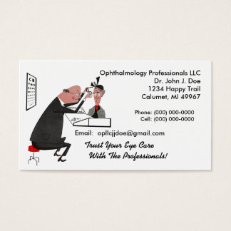 Ophthamology Eye Doctor Retro Style Business Card