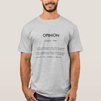 Opinion definition shirt