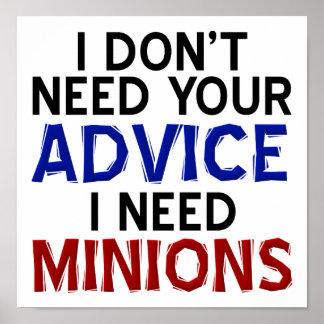 Opinion Minion Funny Poster