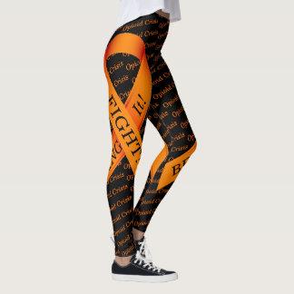Opioid Crisis Orange Ribbon Leggings FIGHT Drugs