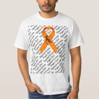 Opioid Crisis Orange Ribbon T-Shirt FIGHT S - 5XL