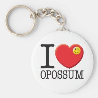 Opossum Basic Round Button Key Ring