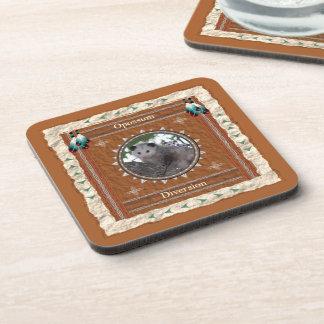 Opossum  -Diversion- Cork Coaster Set of 6