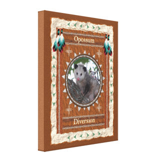 Opossum  -Diversion- Stretched Wrapped Canvas