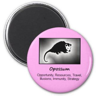 Opossum Totem Animal Spirit Meaning 6 Cm Round Magnet