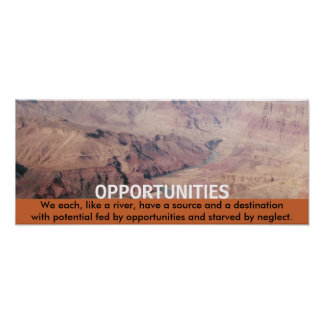 Opportunities (canyon river) Print
