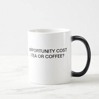OPPORTUNITY COST - TEA OR COFFEE? MORPHING MUG