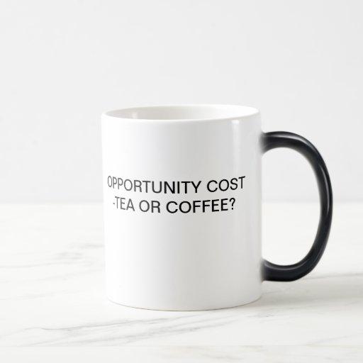 OPPORTUNITY COST - TEA OR COFFEE? MUG