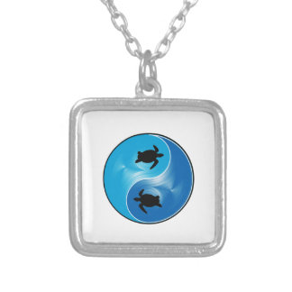 Opposites Attract Silver Plated Necklace