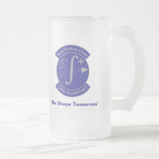 """OPS Support, """"We Shape Tomorrow"""" Frosted Glass Beer Mug"""