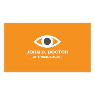 Opthamologist or optometrist orange business card