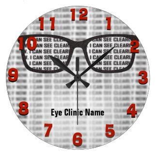 Opthamology Clinic Custom Large Clock