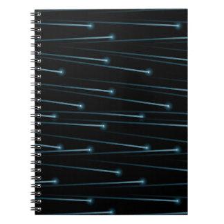 Optic fiber cables notebook