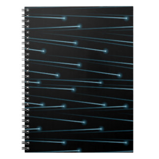Optic fiber cables spiral notebook