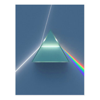 Optic Prism Refracting and Reflecting Light Postcard