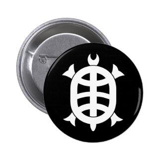 Optical 琳 turtle 6 cm round badge