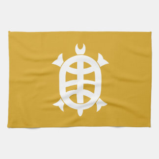 Optical 琳 turtle tea towel