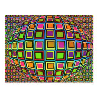 Optical art postcard