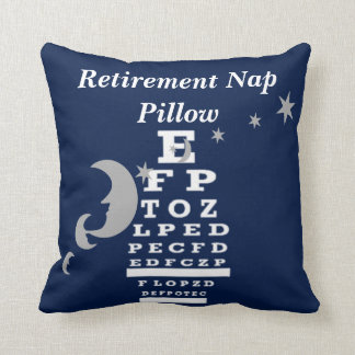 Optical Chart Retirement Pillow navy