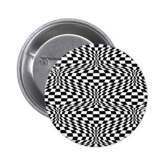 Optical Checkerboard 6 Cm Round Badge