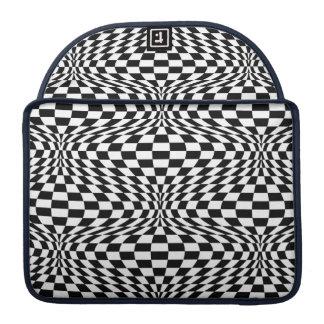 Optical Checkerboard MacBook Pro Sleeves