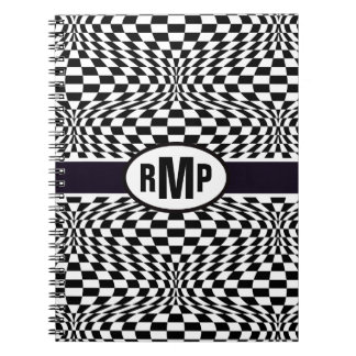 Optical Checkerboard Notebook