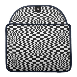 Optical Checkerboard Sleeve For MacBooks