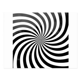 optical deception Black & White Stripes Postcard