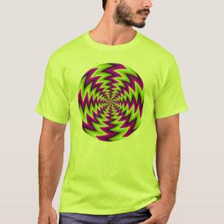 optical deception multicolored T-Shirt