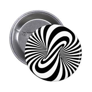 Optical Illusion 3D Spiral 6 Cm Round Badge