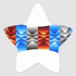 Optical illusion abstract background star sticker