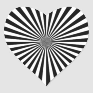 Optical Illusion Allows One To See Ones Brainwaves Heart Sticker