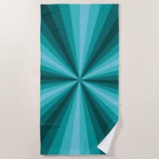 Optical Illusion Aqua Beach Towel