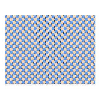 optical illusion - bendy pattern postcard