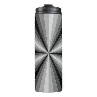 Optical Illusion Black Thermal Tumbler
