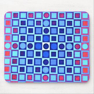OPTICAL ILLUSION BLUE Mousepad