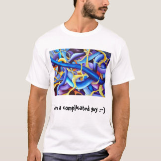 Optical illusion  blue T-Shirt