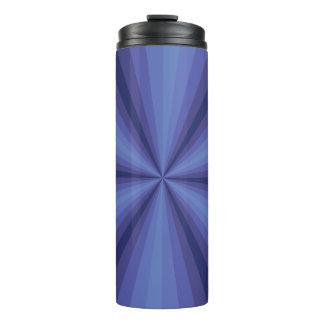 Optical Illusion Blue Thermal Tumbler