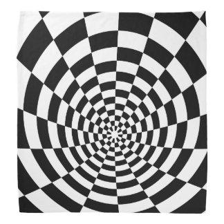 Optical Illusion checkered spatial pattern Bandana