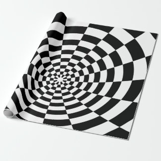 Optical Illusion checkered spatial pattern Wrapping Paper