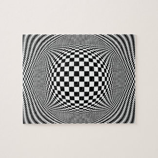 Optical Illusion Checkers Puzzle