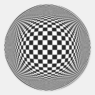 Optical Illusion Checkers Sticker