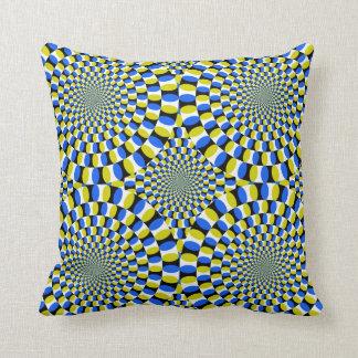 Optical Illusion Circle Pattern Cushion