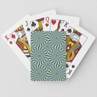 Optical Illusion Circles Novelty Playing Cards